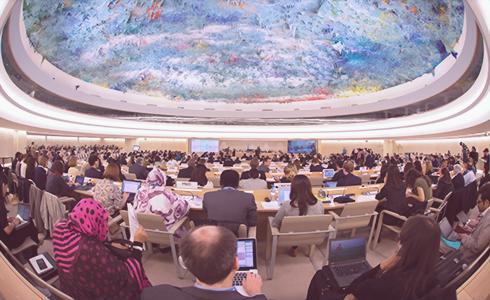 """제34차 유엔인권이사회⋯ 프라이버시 특별보고관 보고서{/}유엔 """"인권 존중, 공포 악용 중단""""을 촉구"""